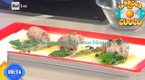 Mini involtini ripieni al croccante di prosciutto ricetta Salvatori da Prova del Cuoco