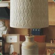 lampara de mesa a Ganchillo