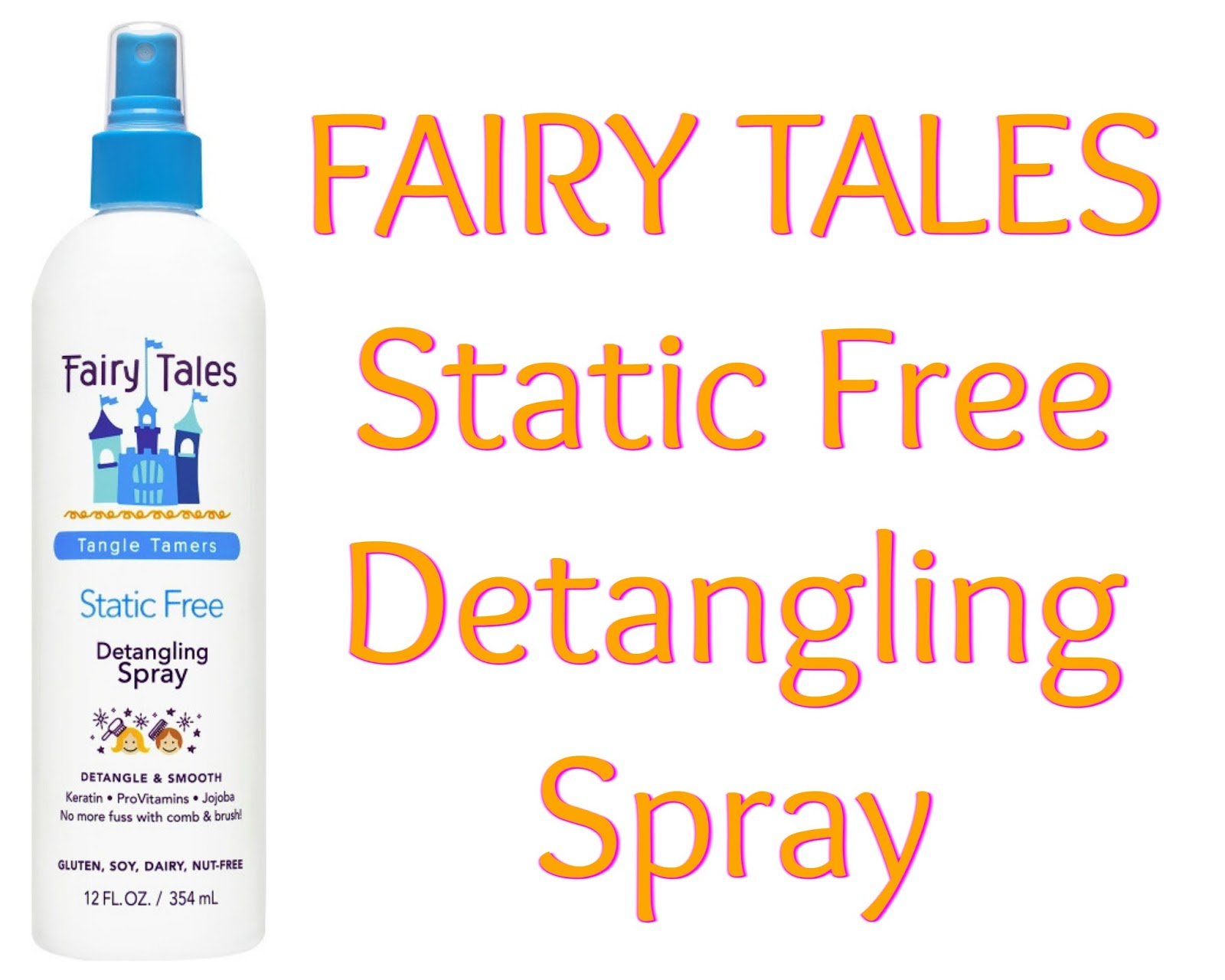 Click here to buy FAIRY TALES Static Free Detangling Spray to get rid of tangles and static.
