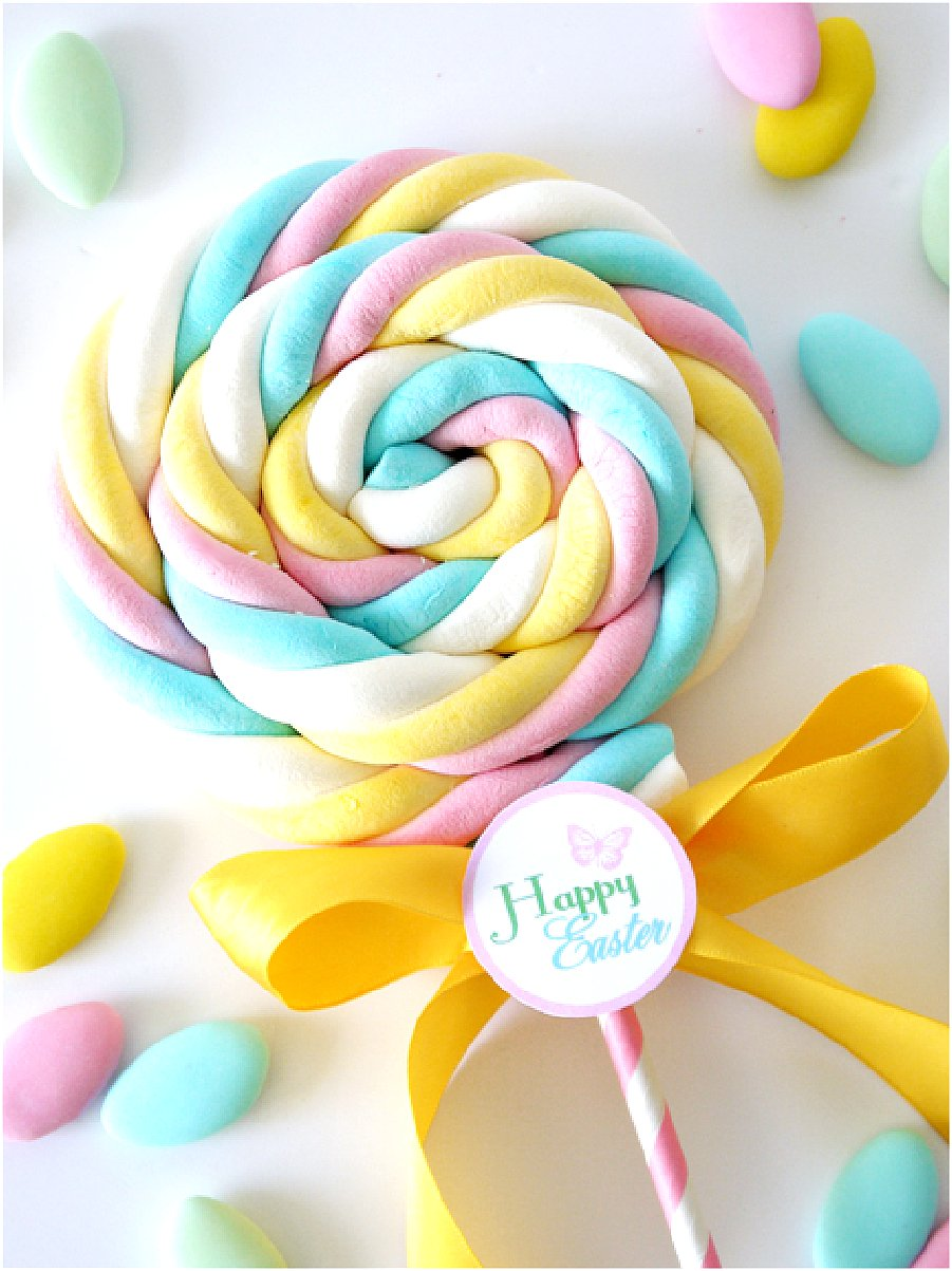 DIY Marshmallow Pops Easter Party Favors