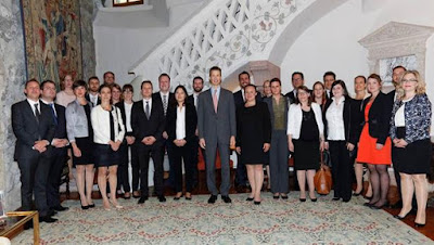 Prince Alois Receives Diplomatic Trainees