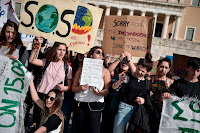 Youth take to the streets to urge new climate priorities. (Image Credit: politico.eu) Click to Enlarge.