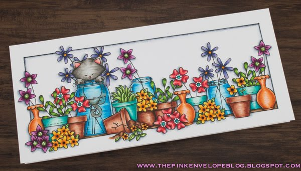 Naughty Newton Card by July Guest Designer Cynde Whitlow | Naughty Newton, Hanging Around, Lovely Blooms and Versatile Vases Stamp sets by Newton's Nook Designs #newtonsnook #handmade