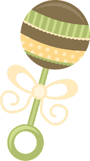 Rattles of the Baby on the go Clipart.