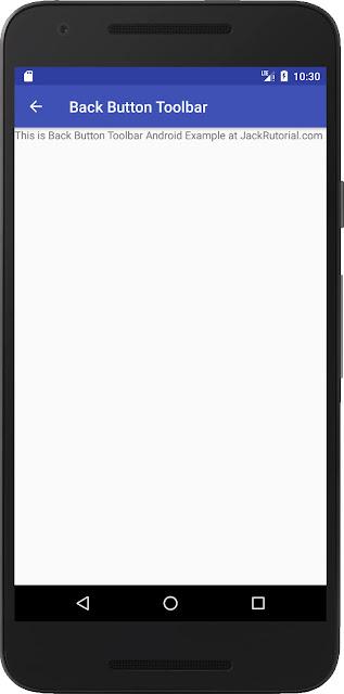 back button toolbar demo