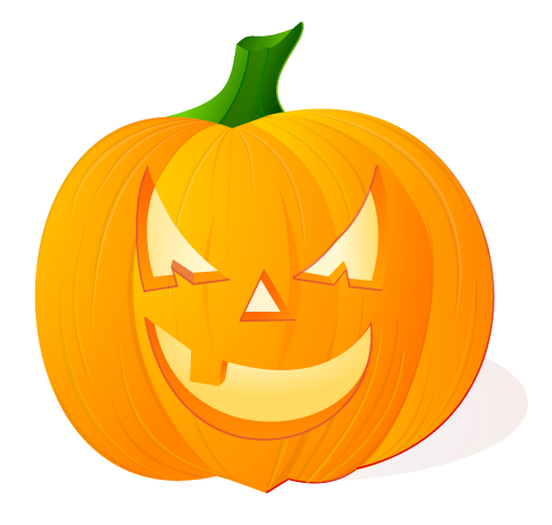 Calabaza de Halloween luminosa sobre fondo claro
