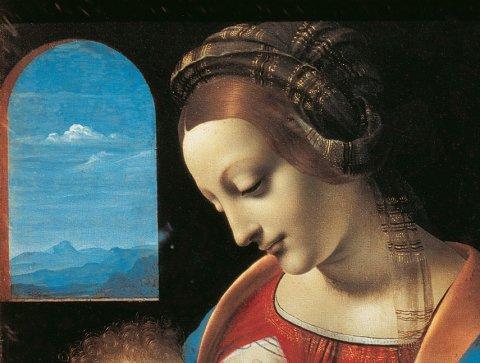 Particular of Madonna by Leonardo