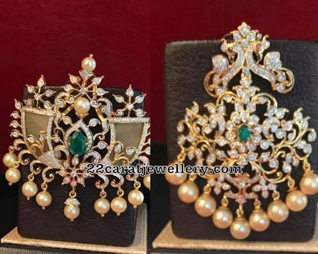 Diamond Pendant by Raja Rajeswari Jewellery