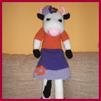 Vaca Clarabella amigurumi