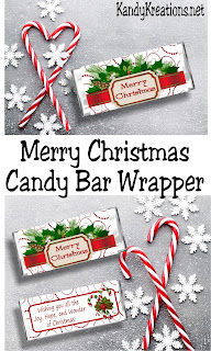 Wish everyone on your Christmas gift list a MerryChristmas with this printable Candy Bar Wrapper. The beautiful, sweet chocolate gift is the perfect Christmas card and Christmas candy in one.