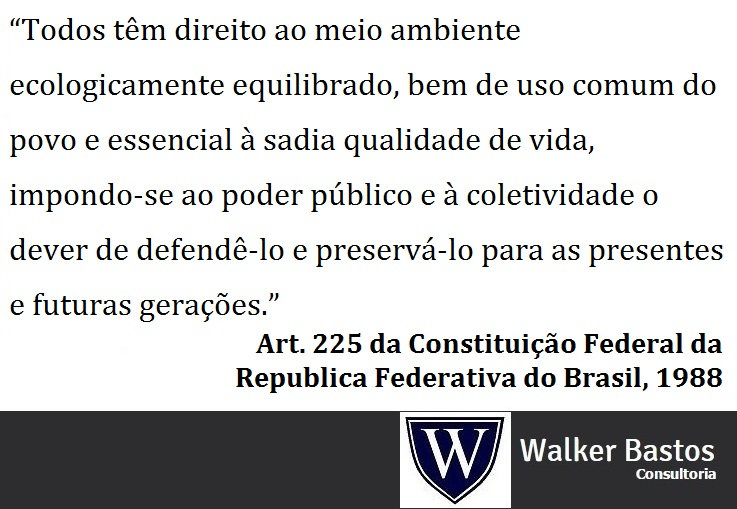 walker bastos, mba, pmp, lead auditor meio ambiente art 225meio ambiente art 225, constituição federal do brasil, 1988