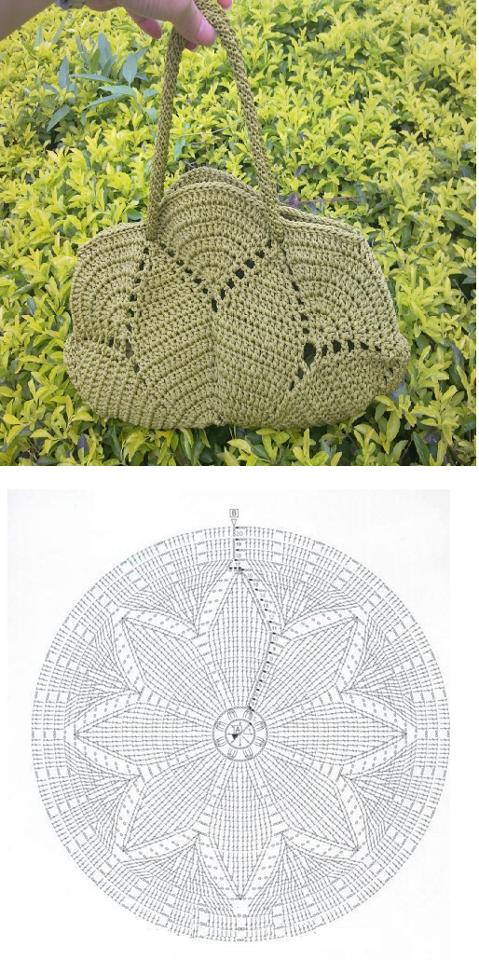 bolsos, crochet, círculos, redondos, patrones ganchillo