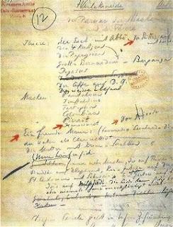 pagina del manoscritto dell'Arlecchineide di Busoni
