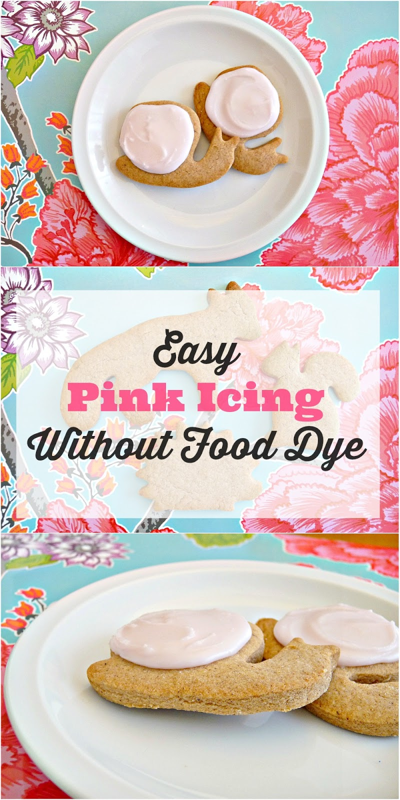 How to make pink icing without food dye