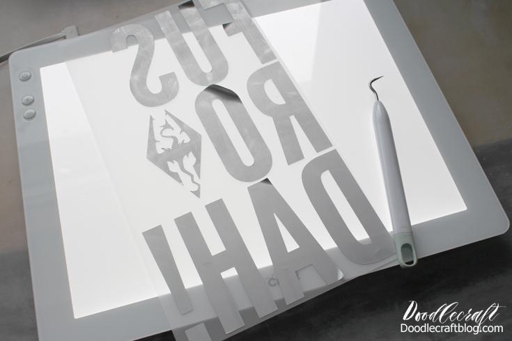 Doodlecraft Skyrim Fus Ro Dah Dragon Shout Iron On Vinyl