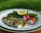 May - Herb-Coated Broiled Fish