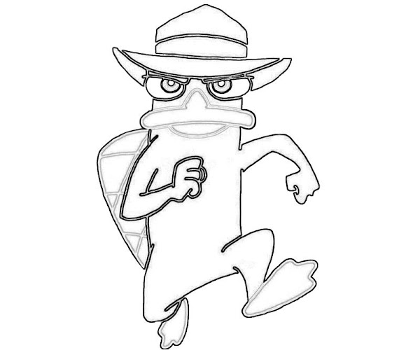 Free printable perry the platypus coloring pages for Duckbill platypus coloring page