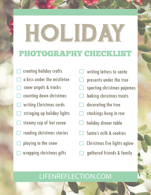 Holiday Photography Checklist