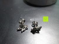 Rückseite: Fashmond Doppel Blumen Schmetterling Creolen Ohrschmuck aus 925 Sterling Silber Für Jeden Anlass