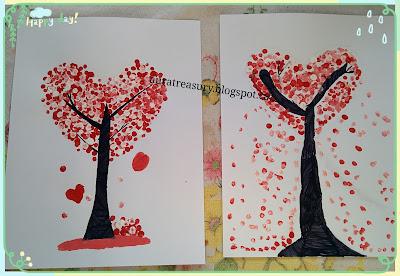 DIY valentine's heart tree by Q-tips
