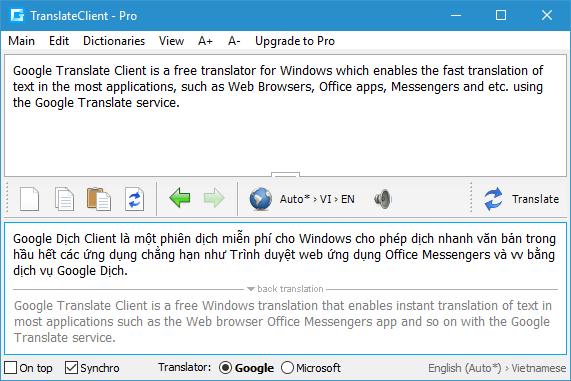 TIỆN ÍCH - Client for Google Translate Pro 6 2 620 Full - Công cụ