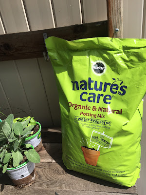 Natures care organic and natural potting mix, her basket