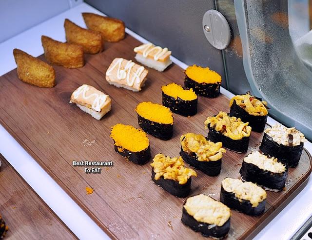牛摩 Wagyu More Sunway Pyramid Malaysia Shabu Shabu Buffet Menu - Assorted Sushi