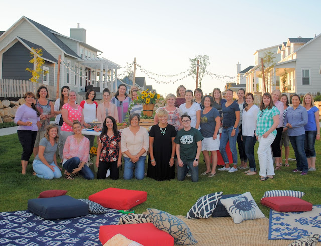 Relief Society activity summer soiree by the lake