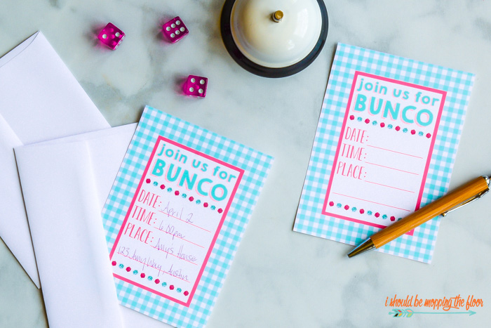 Bunco Invitations