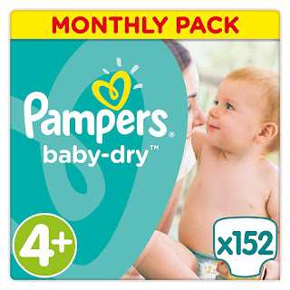 SUNDAYOFFERS Pampers Baby Dry Nappies Monthly Saving 152 pack 4+ £14.33 open-box