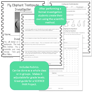 https://www.teacherspayteachers.com/Product/Explore-Investigate-Discover-Exothermic-Reactions-with-Elephant-Toothpaste-2746091