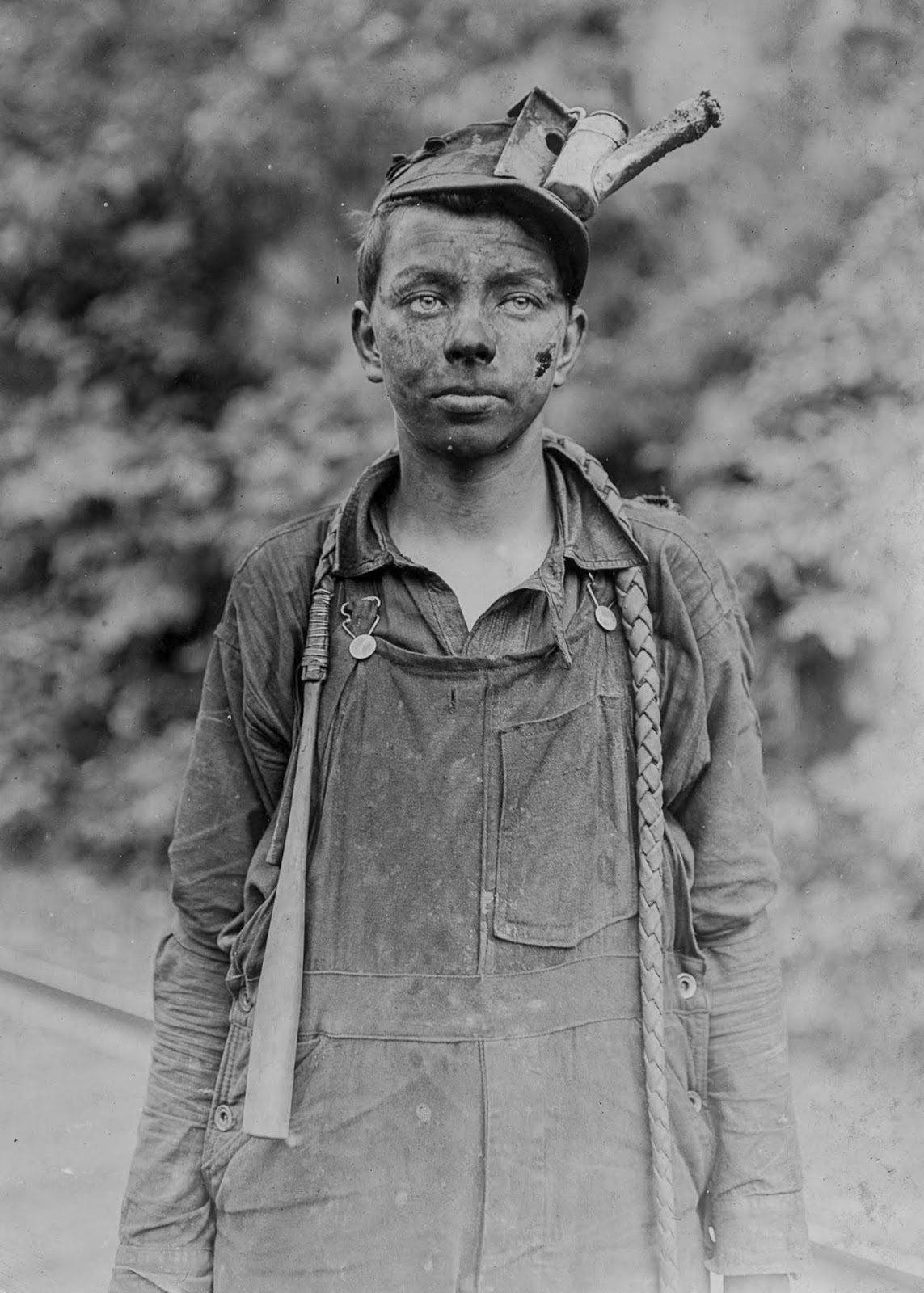 A young driver at Brown Mine in West Virginia. 1908.