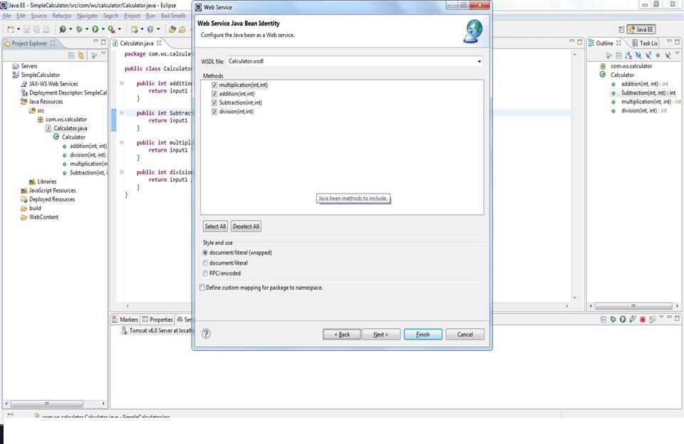 Java Hit: Soap Web Service Example - Simple Calculator