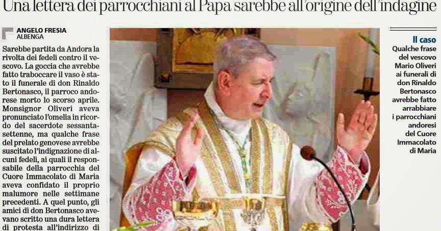 Alassiofutura albenga attriti tra vescovo e fedeli da for Senato della repubblica diretta