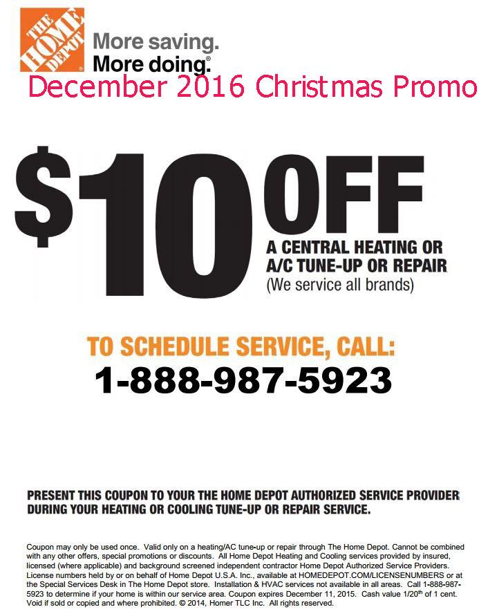 Home depot coupon 2018 december
