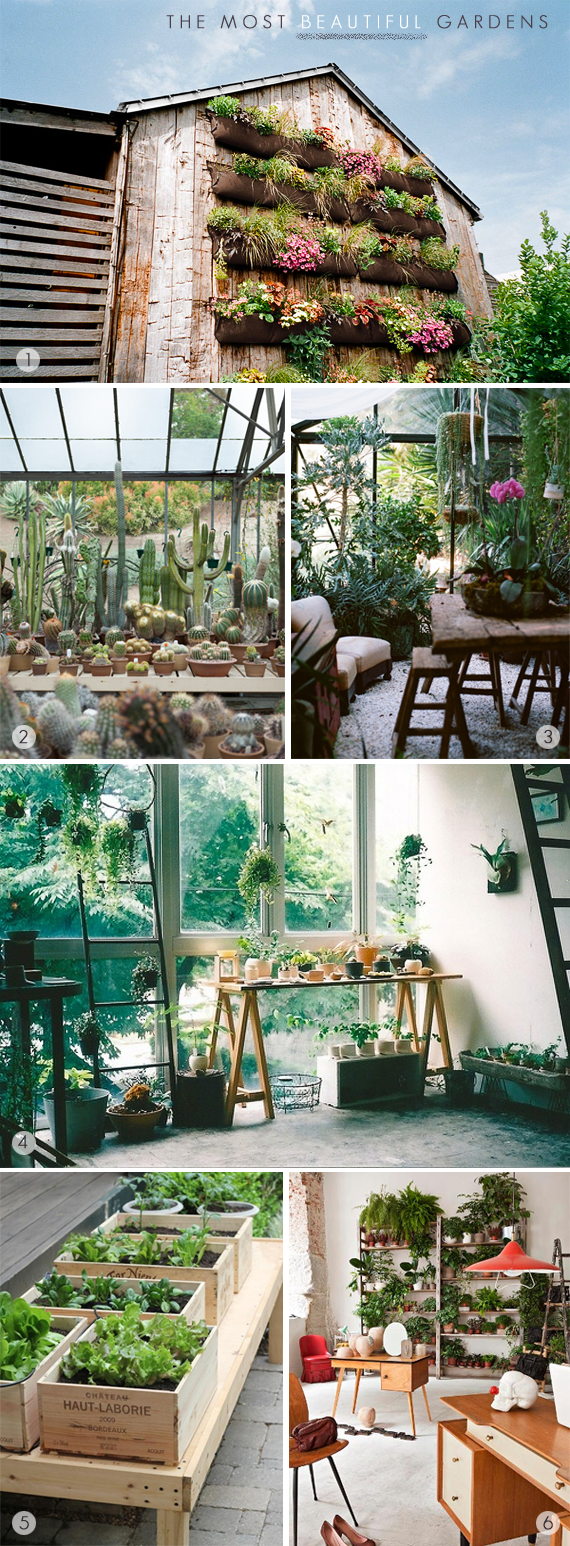 The Most Beautiful Gardens, Greenhouses + Plantscapes // via Bubby and Bean