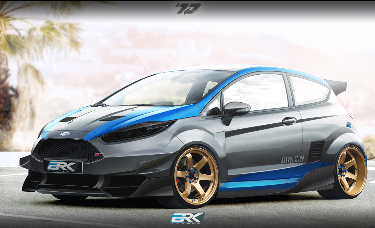virtual tuning studio by ark llanes ford fiesta st racing. Black Bedroom Furniture Sets. Home Design Ideas