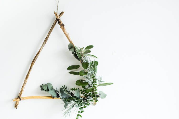 Triángulo DIY navidad