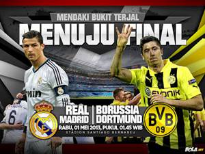 Jadwal Real Madrid VS Borussia Dortmund 2013