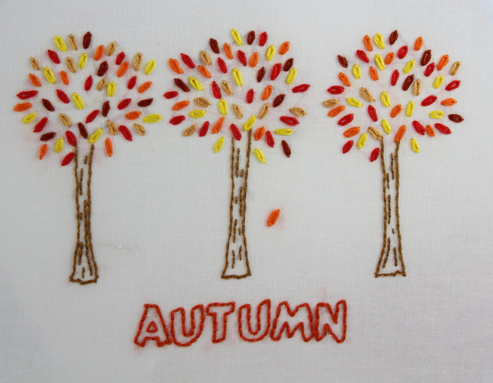 Big b autumn embroidery pattern these beautiful trees are from my new autumn embroidery pattern packet the colors i used for the leaves yellow dmc 973 red dmc 666 beige dmc 977 bankloansurffo Choice Image