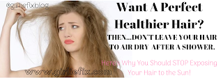 girliefix blog - healthy hair sun damage