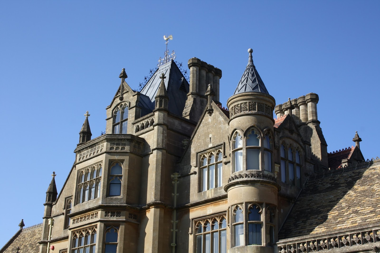 The Turrets Chimney Pots And Weathercocks Of Tyntesfield House