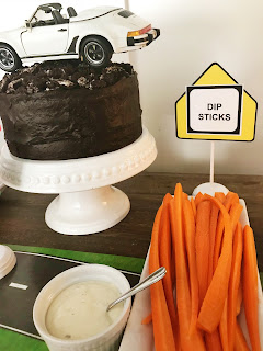 Clever and fun snacks at a 16th Driving Party @michellepaigeblogs.