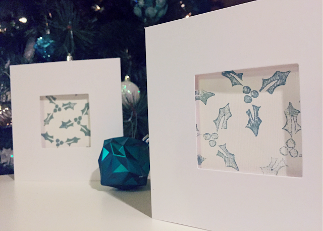 Craft Christmas Card Stamping Holly