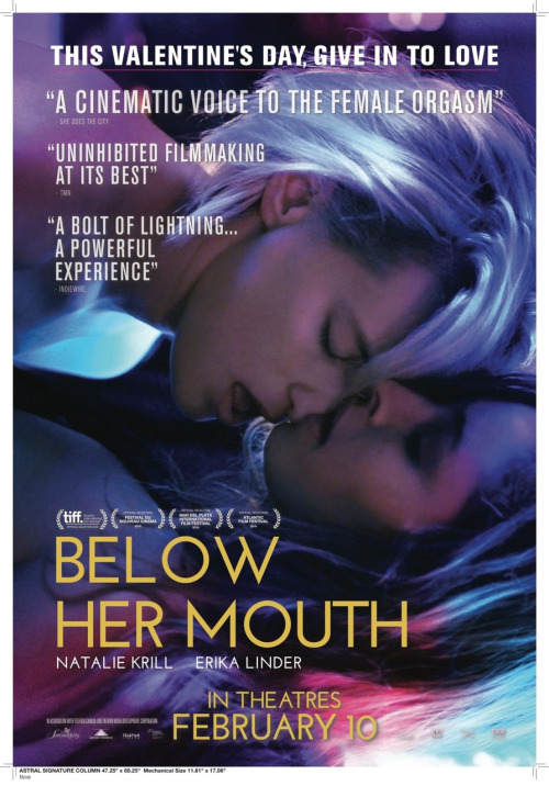 BELOW HER MOUTH follows one of the most tried and true plots in the  softcore lesbian erotica canon – a lesbian (androgynous, but not so butch  as to turn off ...