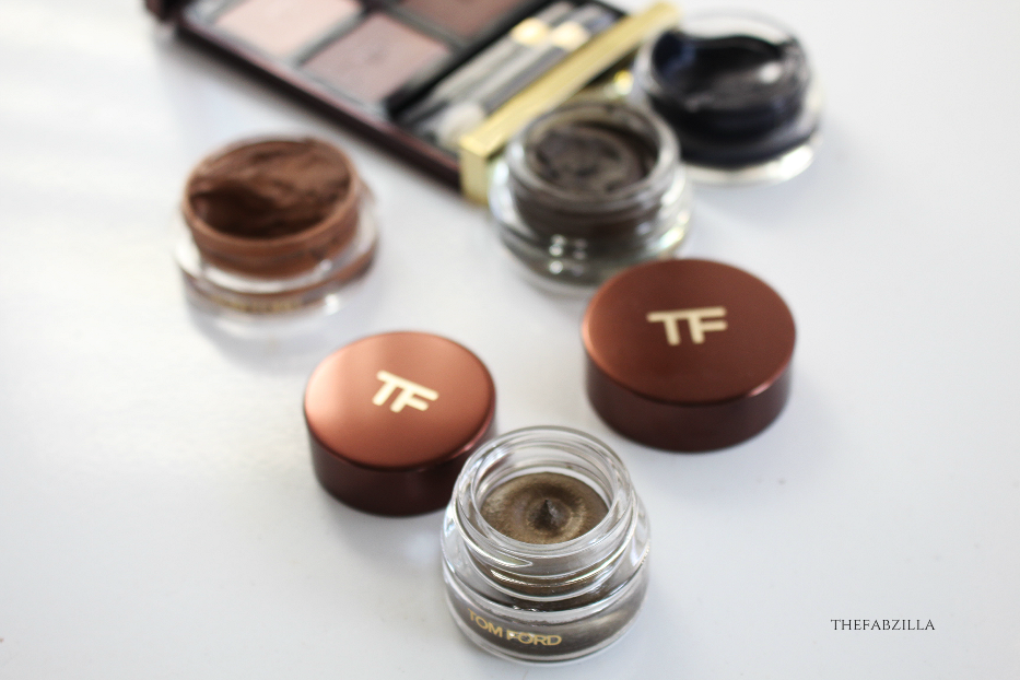 Tom Ford Cream Color for Eyes Burnished Copper, Tom Ford Eye Color Quad Nude Dip, Tom Ford Skin Illuminating Powder Duo Moodlight, Tom Ford Lip Color Forbidden Pink