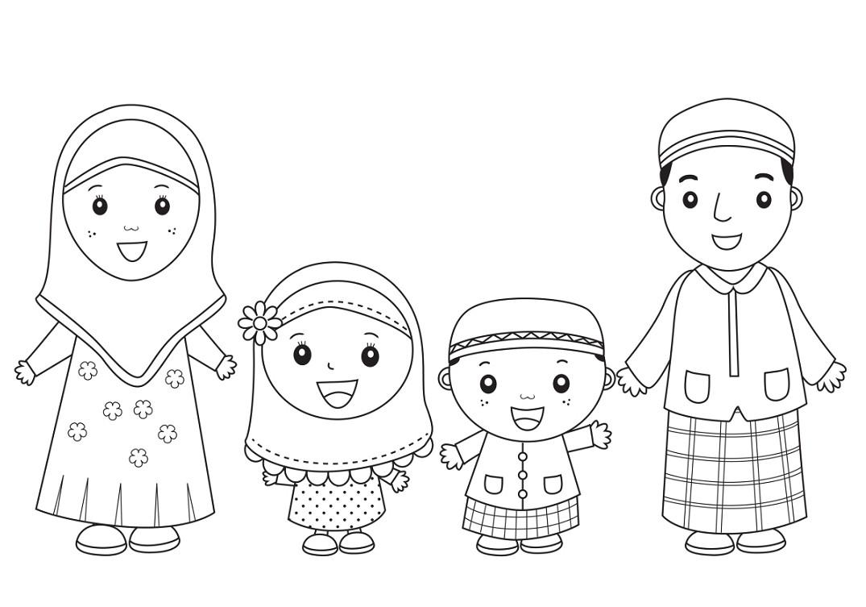 Gambar Kartun Islami Untuk Diwarnai