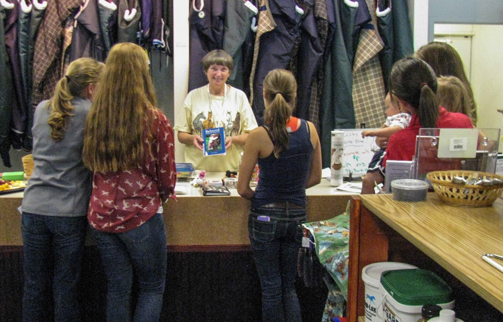 Author Sharon Miner Events: Photos from Judy's Tack Shops in
