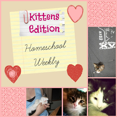 Homeschool Weekly - Kittens Edition on Homeschool Coffee Break @ kympossibleblog.blogspot.com