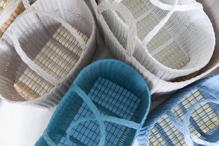borse in plastica intrecciate